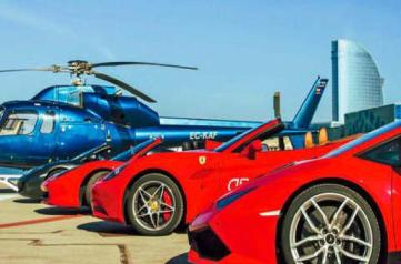 Drive a Ferrari and Travel by Helicopter (X 2pax)